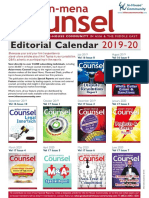 Asian-mena Counsel Editorial Calendar 2019-20