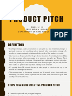 Product Pitch