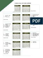 VCS 2019-2020 Calendar