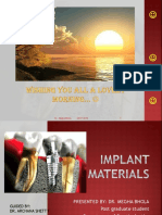 Implant Materials Ppt