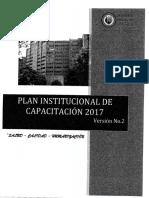 Plan de Capacitacion 2017 Segunda Version