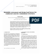 1-Reliability Assessment and Design Load Factors for Reinforced Concrete Containment Structures