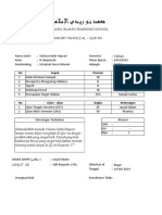Contoh aplikasi raport tahfidz excel