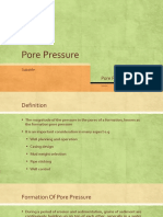 Pore Pressure and Overburden Pressure