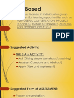 Pedagogical - Activity Based