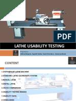 Lathe Usability