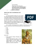 Con Arts Handout