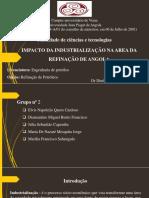 Impacto Da Industrialização Na Area de Refinação de Angola