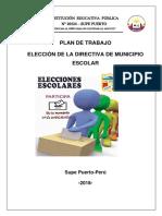 Plan de Trabajo Municipio Escolar 2017