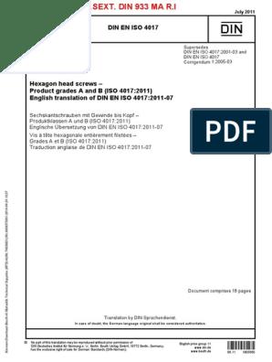 M14 x 160 ISO 4014 8.8 Sechskantschrauben mit Schaft M3 x 30