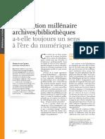 57190 l Opposition Millenaire Archivesbibliotheques a t Elle Toujours Un Sens a l Ere Du Numerique