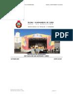 Proyecto de Escenario en Plaza San Antonio Cadiz