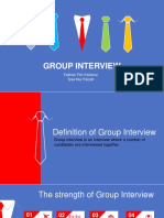 Group interview presentation