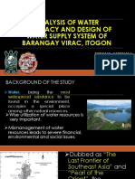 Analysis of Water Adequacy and Design of Water New Revision