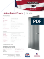 SP Hollow Metal Doors Spec Sheet11