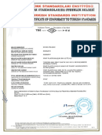 Tse 12201 2 Pe Pressurized Drinking and Service Water Pipe Certificate