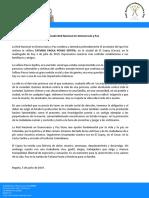 COMUNICADO RNDP ASESINATO SEÑORA TATIANA POSSO EL COPEY