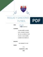 Reglas y Sanciones en El Futbol