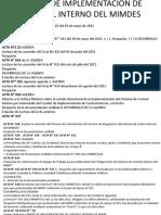 Comite de Implementación de Control Interno Del Mimdes