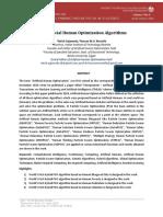 Ten Artificial Human Optimization Algorithms