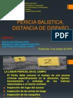 Pericia Balistica, Distancia de Disparo (1)