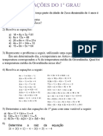 #13 EQUAÇÕES DO 1° GRAU QUESTÕES