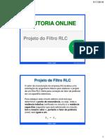 14 Projeto Do Filtro RLC