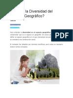 Qué Es La Diversidad Del Espacio Geográfico