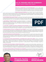 10 Medidas de Gobierno Eduardo Aguilar
