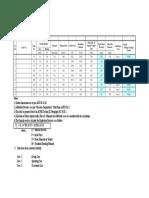 Flange Leakage Check Sheet