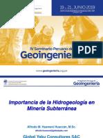 Importancia de La Hidrogeología en Minería Subterránea