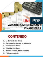 UNIDAD 3 2018 Variables Monetarias y Financieras