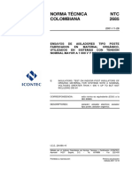 NTC2685 Aisladores Material Organico 1000v a 300 Kv IEC 60660