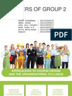 Approach and Organization Syllabus