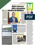 Popolizio Convoca a Cumbre Con Países Aliados de Maduro