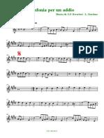 Sinfonia Per Un Addio (Sax Soprano in Sib)