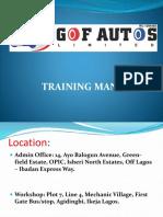 GOF Autos Training Manual