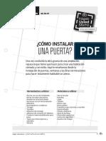 INSTALAR PUERTA EN PDF