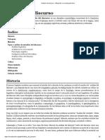 Análisis Del Discurso - Wikipedia, La Enciclopedia Libre