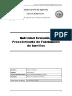 Actividad Evaluable - Fabricación de Tornillos