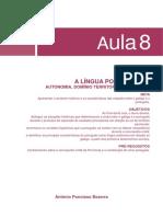 13403925112014Historia Da Lingua Portuguesa - Aula 8