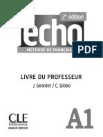 Echo A1 Livre du Professeur commenté