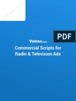 Commercial Scripts for Radio & Television Ads