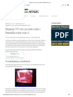 Reparar TV con un solo color _ Pantalla color rojo ✓