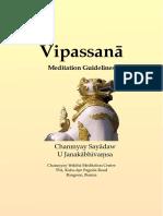 Vipassana Meditation Guidelines by Chanmyay Sayadaw