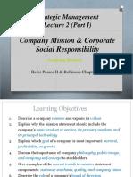 Lecture 2 Mission CSR