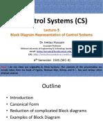 Lecture -3 Block Diagram Representation of Control Systems