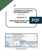 Análisis de Fallas Motores Fuera de Línea.