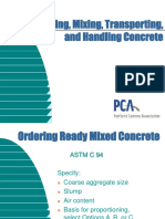 Transporting and Handling of Concrete
