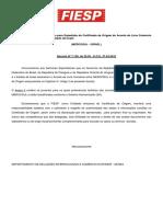 Normas de Origem e Modelo de Declaração1